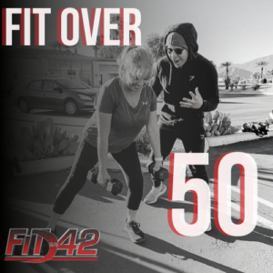 Fit In 42 Personal Trainer and Studio Gym - Fit Over 50 - 30 Day Workout Challenge - Lady lifting weights