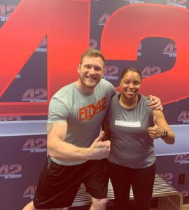 Fit In 42 Studios - Personal Training, Group Workout Classes, Gym - Trainer and student happy about results