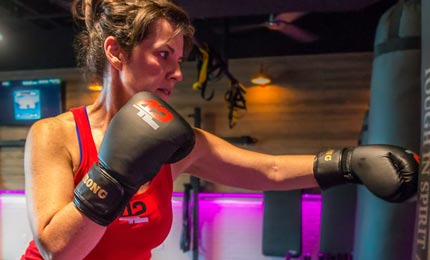Fit In 42 Palm Springs Gym boxing exercise class