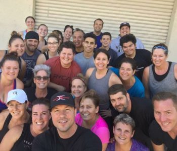 Fit In 42 Fitness Gym Group Training Workout - Trainer and students taking group picture