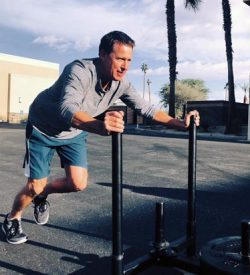 Fit In 42 La Quinta Gym sled exercise outdoors