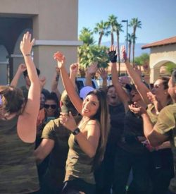 Fit In 42 Palm Springs Gym group cheering