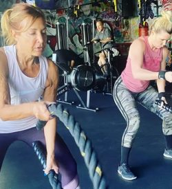 Fit In 42 Personal Trainer and Studio Gym - Fit Over 50 30 Day Workout Challenge - Ladies with ropes